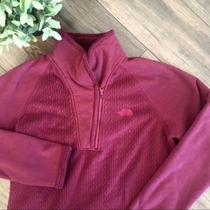 The North Face Burgundy Quarter Zip Fleece Sweater
